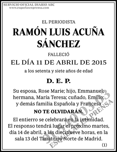 Ramón Luis Acuña Sánchez
